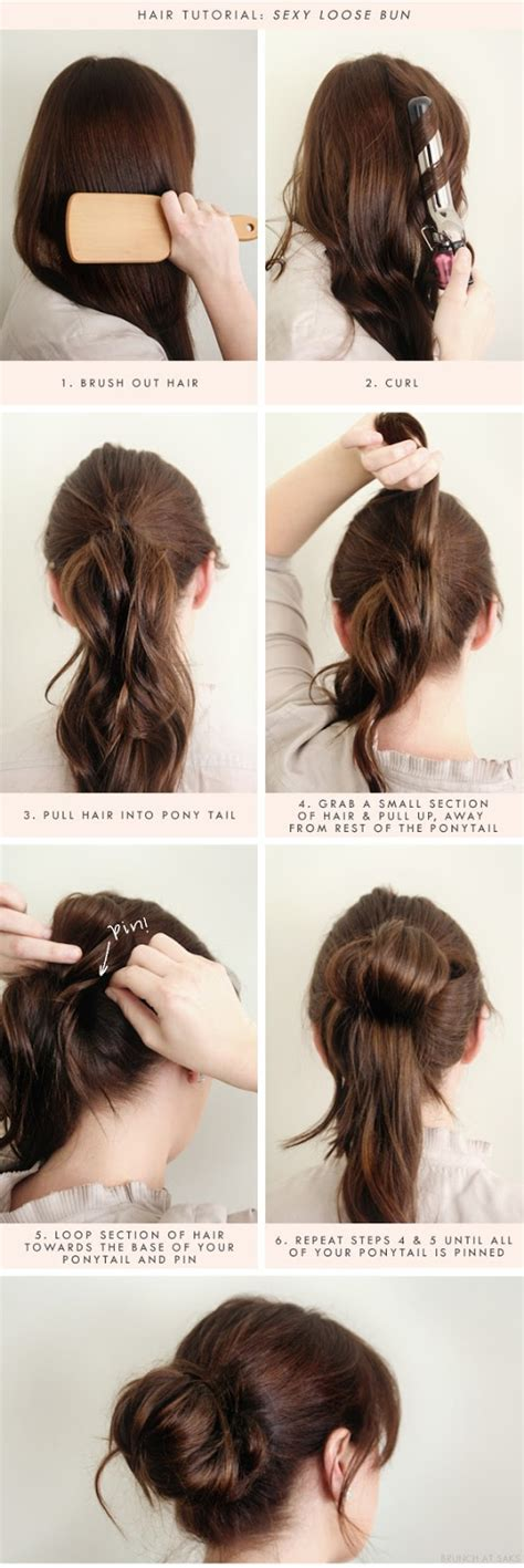 buns hairstyles how to hair tutorial loose bun b a s blog