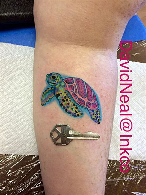 hattiesburg tattoo watercolor sea turtle courtesy of david neal at