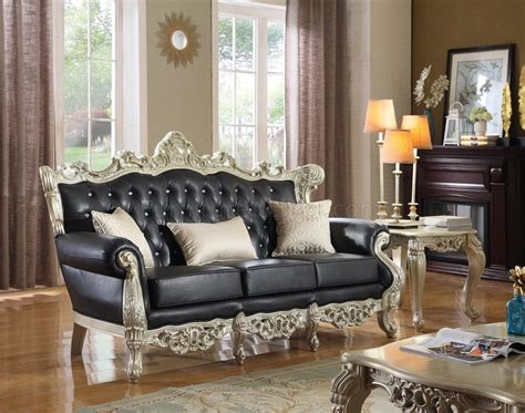 meridian 602 cesar 3 pieces living room set in black cesar sofa 602 in black bonded leather by meridian w options