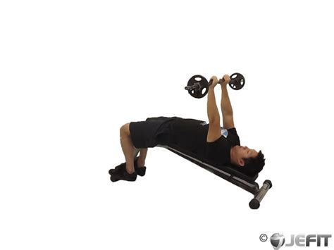 Ez Bar Decline Triceps Extension Exercise Database Jefit Best Android And Iphone