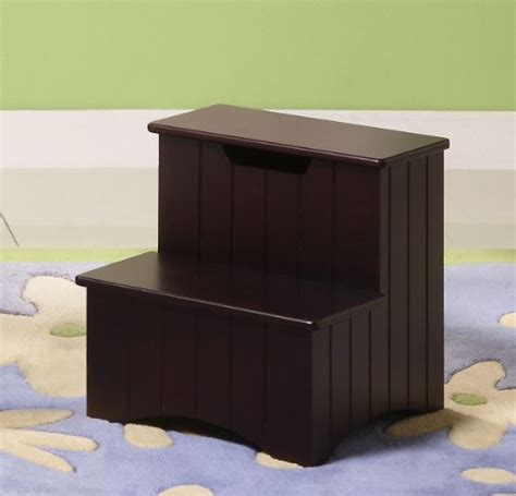 purchase dark cherry finish wood bedroom step stool with