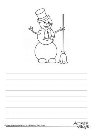 snowmen writing paper