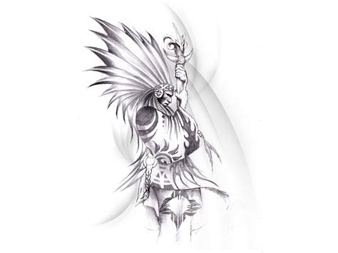 an indian warrior tattoo design