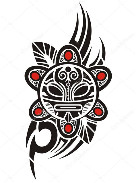 taino sun tribal vector illustration stock vector