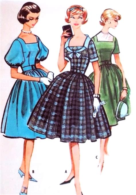 pattern dress rockabilly 1950s rockabilly dress pattern mccalls 5107 three style