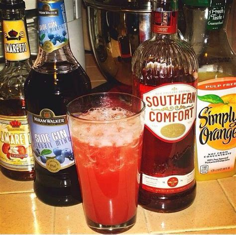 disaronno and southern comfort the alabama slammer 3 4 oz 22ml sloe gin 3 4 oz 22ml