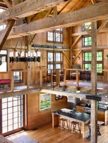 barn home interiors ladder rustic architecture warm interior design living