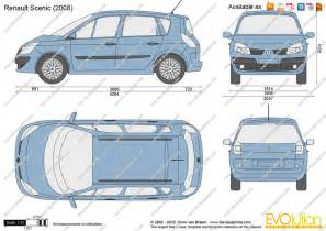 Renault Scenic Length The Blueprints Vector Drawing Renault Scenic