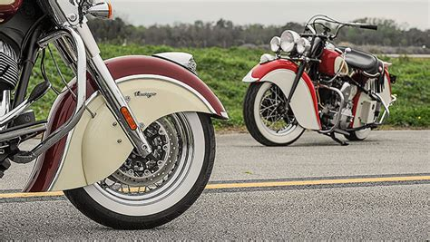 iconic two tone paint indian motorcycle