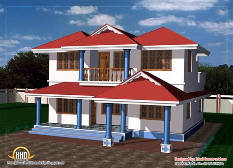 double story house designs two story house plan 1800 sq ft kerala home design and floor plans