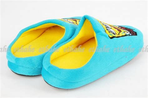 spongebob squarepants slippers spongebob squarepants plush slippers house shoes egg1jw ebay