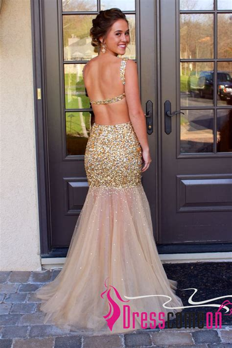 white and gold open back prom dress 2016 2017 b2b fashion backless prom dresses 2015 new mermaid shiny sleeveless with gold sequins open back sweep