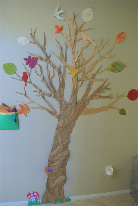 Make A Tree Out Of Paper - four birds giving thanks