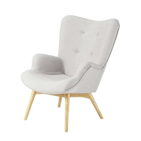 Light Gray Armchair Fabric Vintage Armchair In Light Grey Iceberg Maisons Du