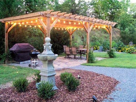 Backyard Ideas With Pergola Top 25 Best Pergola Lighting Ideas On Pergola
