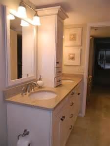 bathroom vanity storage tower countertop bamboo silestone home sweet home
