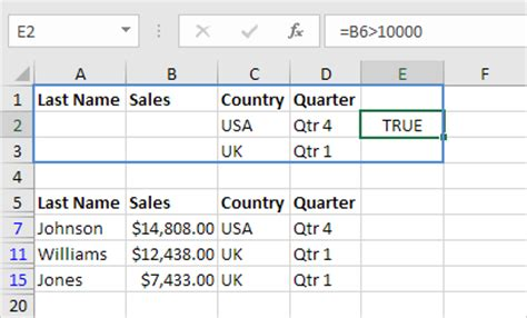 advanced filter in excel easy excel tutorial