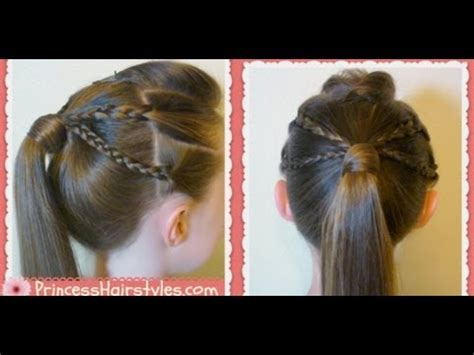 back to school ponytail hairstyles dailymotion double braided edgy ponytail hairstyle back to school