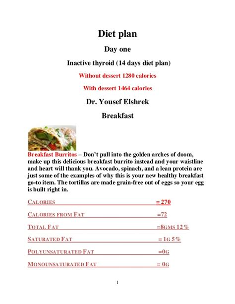 printable diet plan for hypothyroidism diet chart pdf chicken cacciatore with brown rice