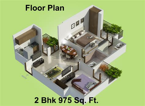 975 Sq Ft 2 Bhk 2t Apartment For Sale In Charms India 865 Sq Ft 2 Bhk