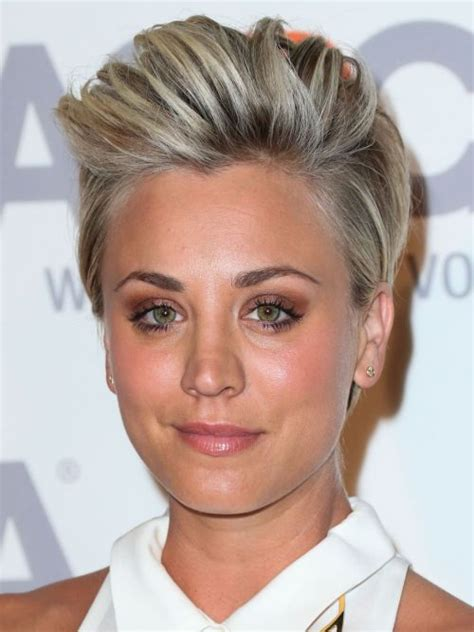 pixie cut penny kaley cuoco hairstyles haircuts short pixie bangs updos