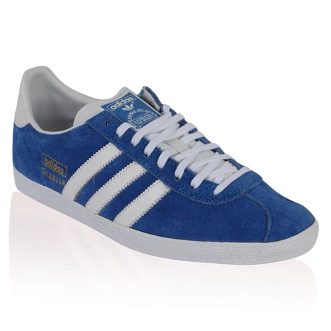 new mens blue suede adidas gazelle originals retro lace trainers shoes size 6 11 ebay