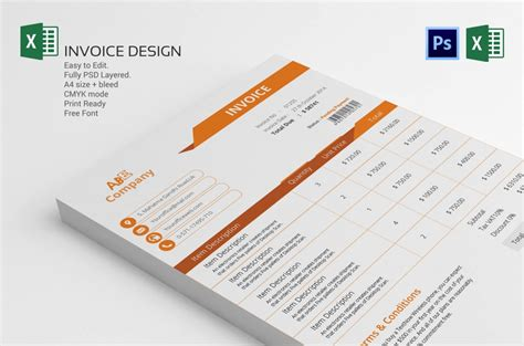 create the graphic design invoice template well free photoshop templates you can t miss out on