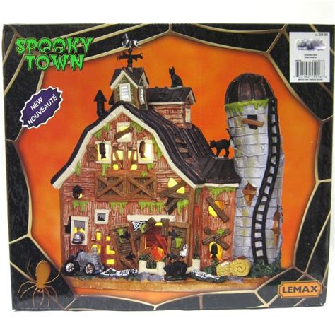 Town Decorations by Lemax Spooky Town Dilapidated Barn New In Box Lighted