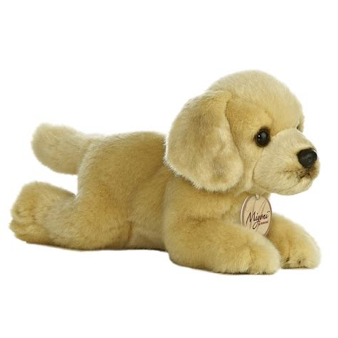 puppy plush realistic stuffed yellow lab 8 inch plush by