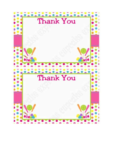 thank you templates for gift cards 30 free printable thank you card templates wedding