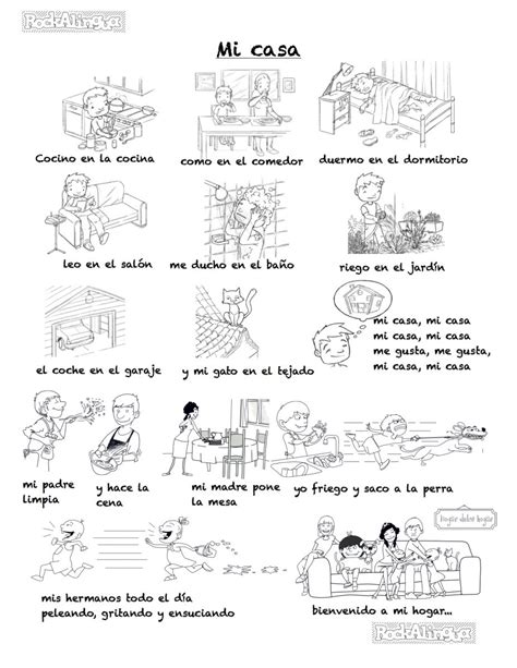 my house is your house in spanish a song to describe your home in spanish difficult version