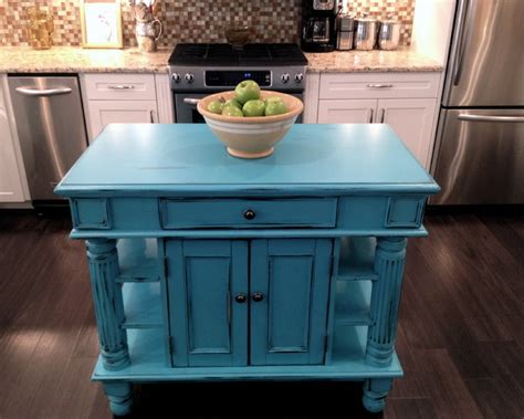teal kitchen island distressed turquoise kitchen island quicua