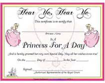 princess certificate template search results for printable certificate templates