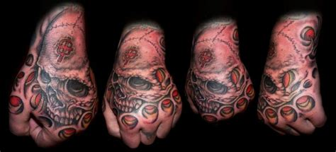 biomechanical tattoo on hand skull tattoos pictures page 5