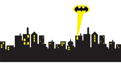 cityscape clipart batman city pencil and in color