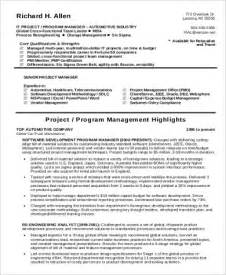9 sle it project manager resumes 2017 free