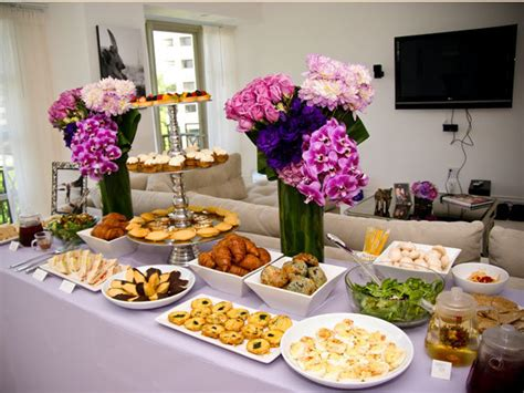 food ideas for couples wedding shower purple themed bridal shower bridalguide