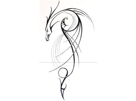 dragon tattoo outline designs simple tattoos