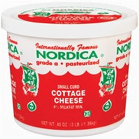Fiber One Cottage Cheese by Nordica Cottage Cheese Small Curd Calories Nutrition