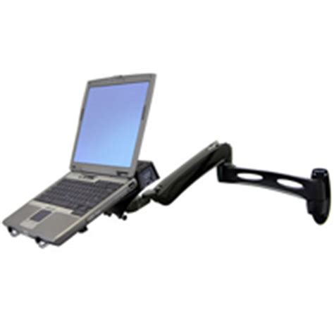 wall mount swing arm laptop stand ergotron lx notebook adjustable wall mount arm 45 180 195
