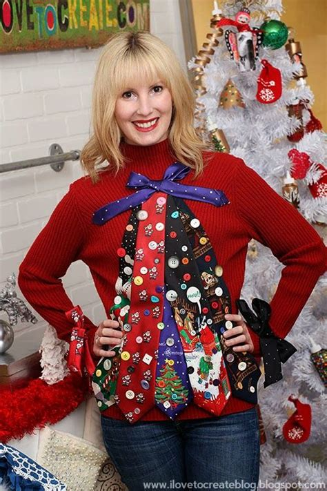 ilovetocreate blog ugly tie christmas tree sweater diy