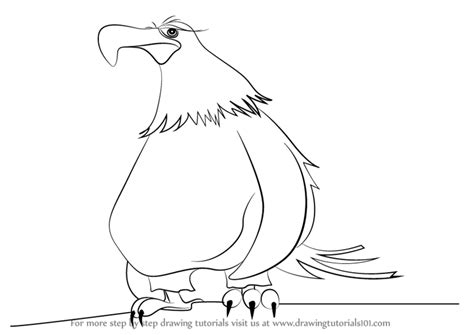 mighty eagle coloring page learn how to draw mighty eagle from the angry birds movie