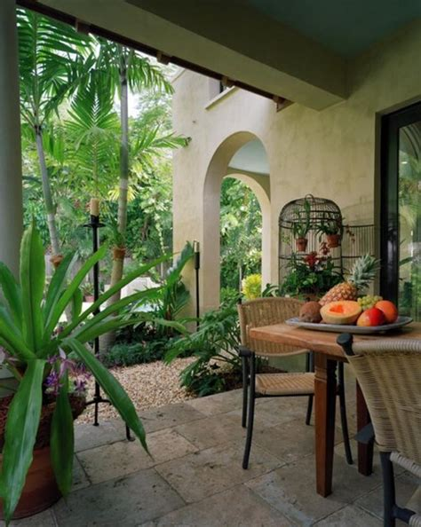 How To Decorate A Birdcage Home Decor by Tropical Garden And Pool Area In A Miami Residence