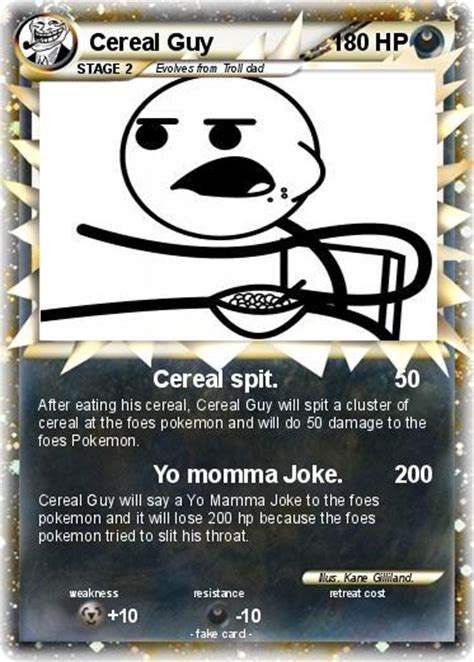 Cereal Meme Spit - pok 233 mon cereal guy 25 25 cereal spit my pokemon card