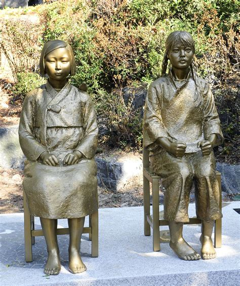 comfort women monument statues honoring korean chinese comfort women erected