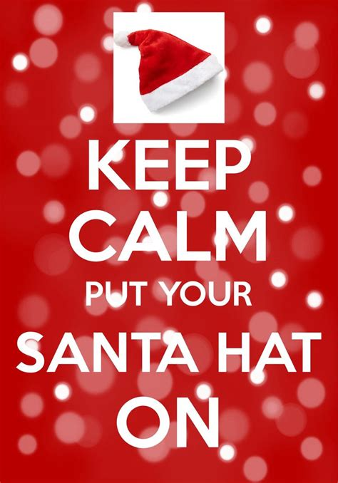 calm put  santa hat  created   calm  carry   ios christmas