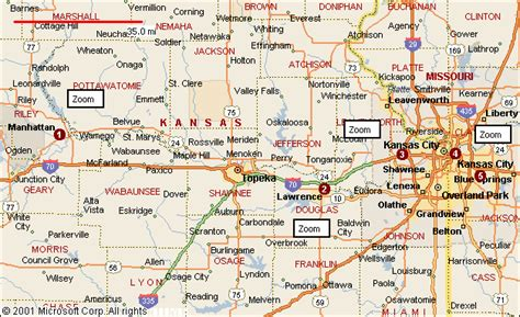 map of kansas usa kansas map
