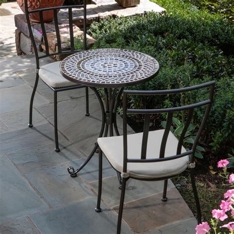 Alfresco Home Tremiti Round Mosaic Bistro Set Patio Sets Patio Bistro Sets On Sale