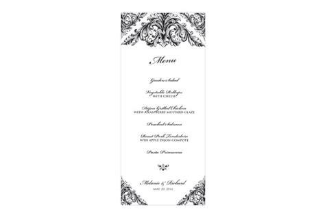 Renaissance Wedding Menu Stationery Templates On Creative Market Blank Fancy Menu Template