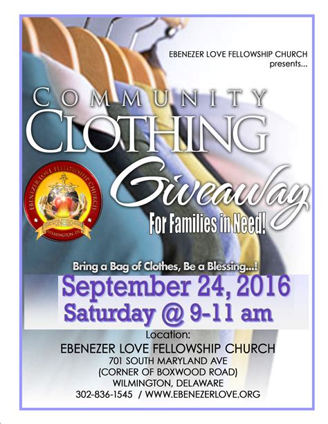 Clothes Giveaway - community clothing giveaway september 24 2016